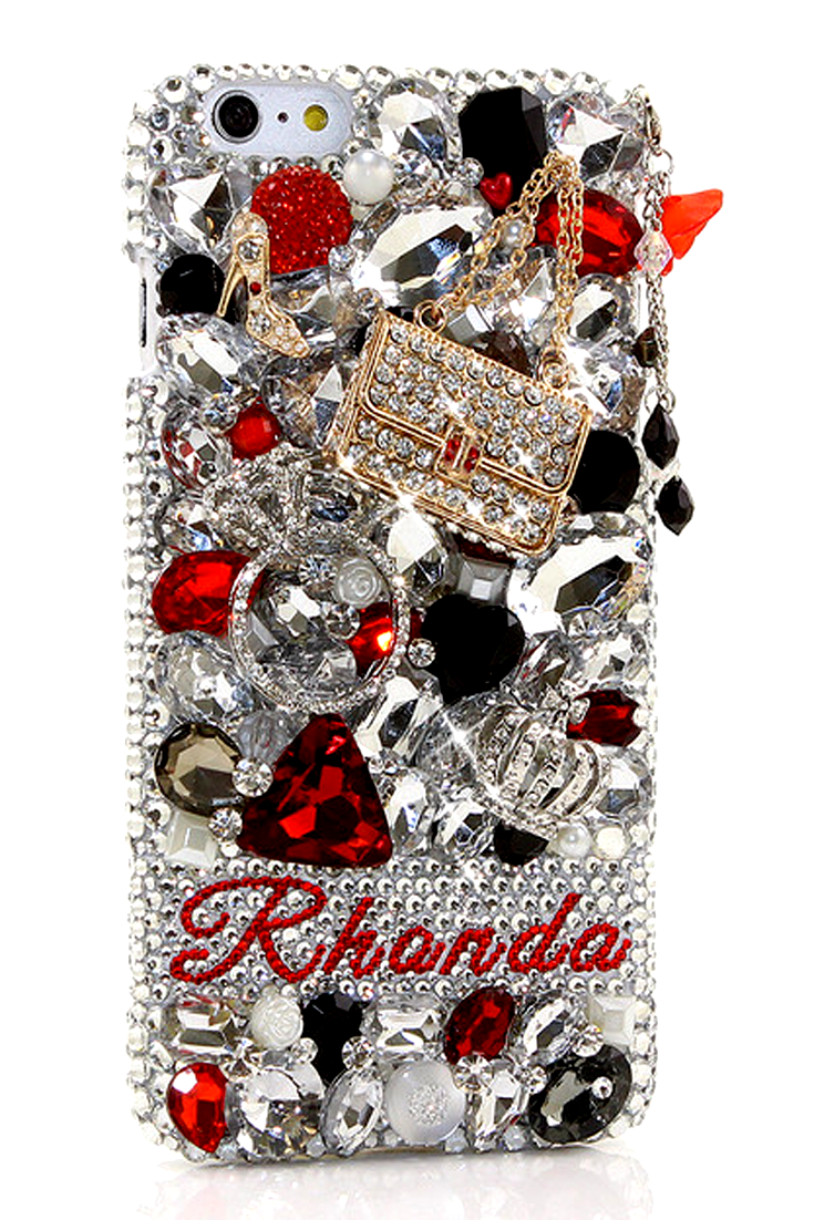 queen of fashion hearts personalized name \u0026 initials design (styletreasures personalized name \u0026 initials unique design iphone 6s plus handmade case protective for girls