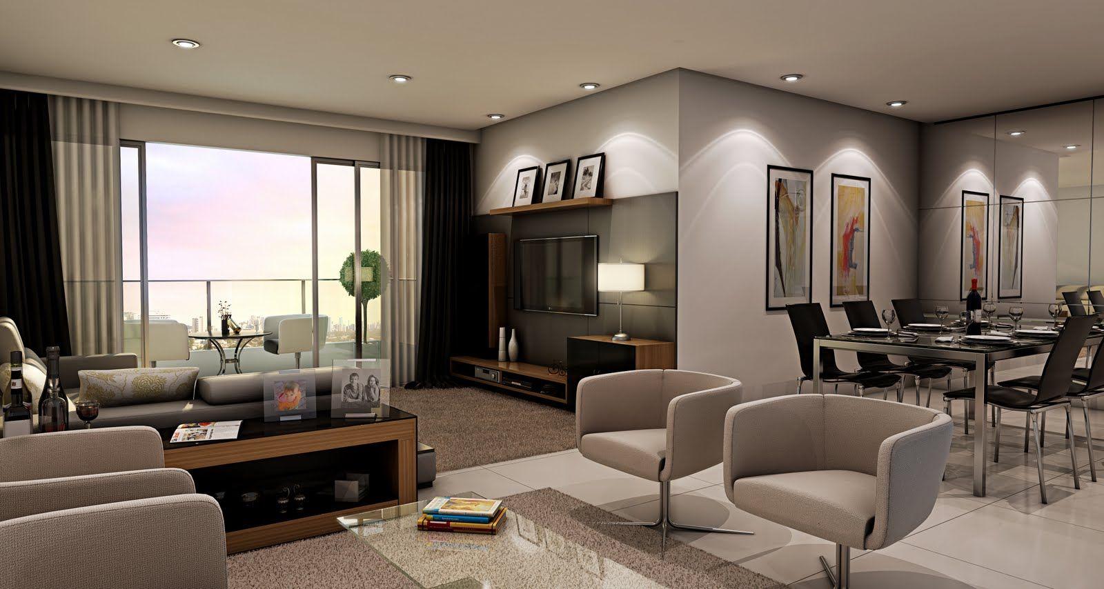 #144564 decoração para sala com 3 ambientes Pesquisa   A Trindade  1600x854 píxeis em Decoração De Sala De Estar E Jantar Retangular