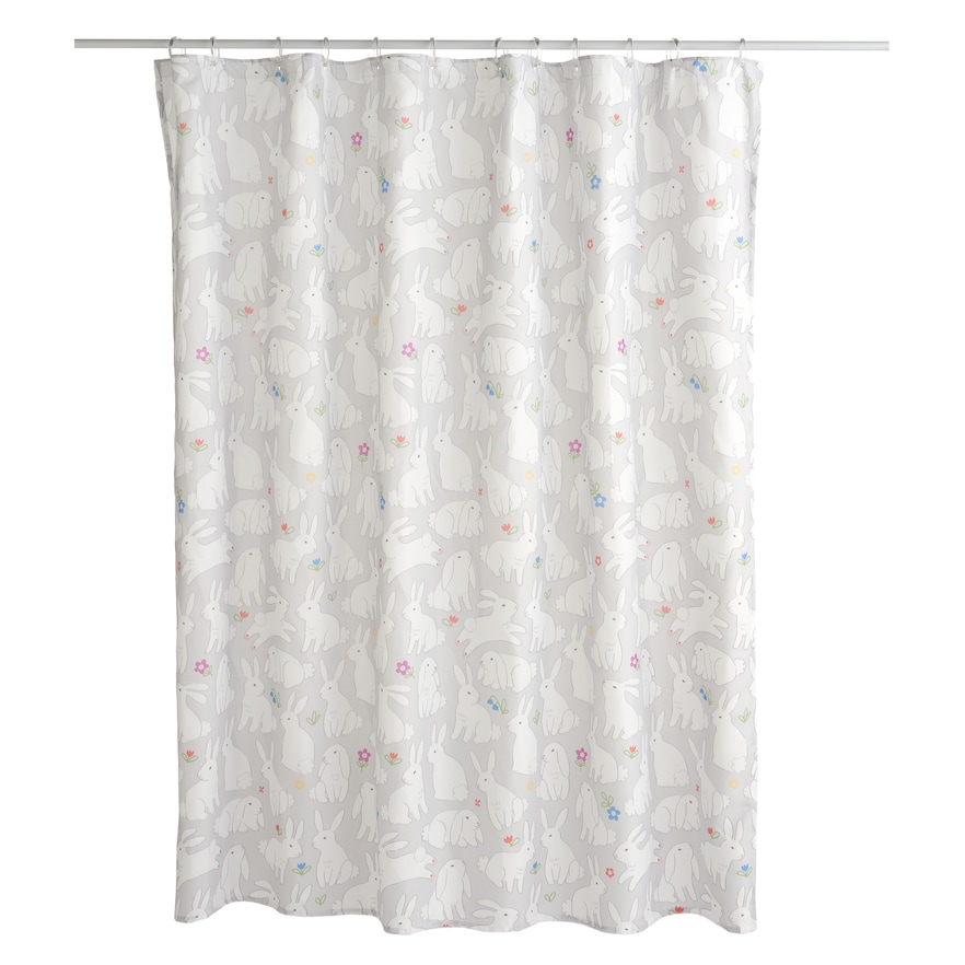 Celebrate Together Bunnies Shower Curtain Grey Shower Curtain