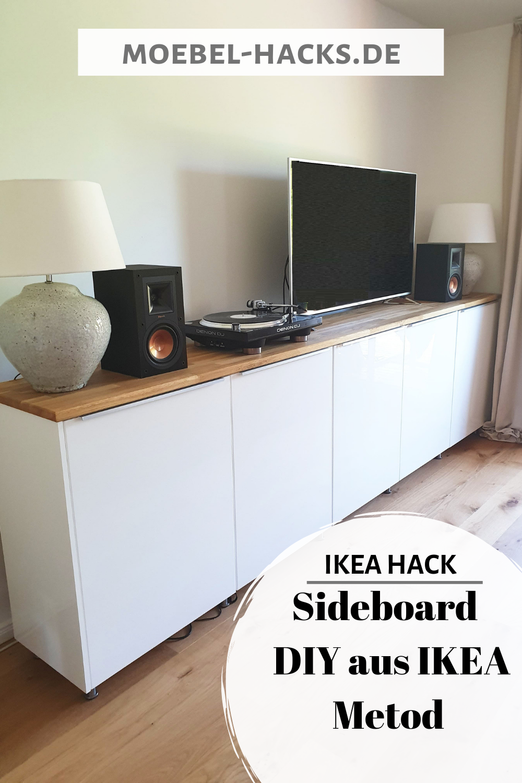 Sidebord Diy Aus Ikea Metod Schranken Ikea Hack Wohnzimmer Diy Sideboard Ikea