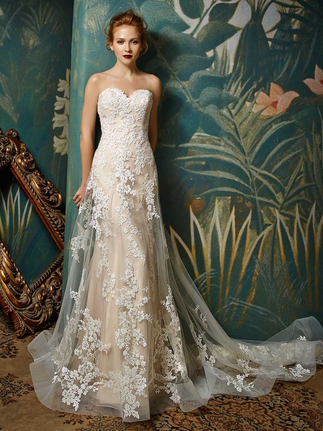 2017 Blue By Enzoani Jilly Front View Wedding Gowns Bride: Taupe Shabby Chic Wedding Dresses At Reisefeber.org