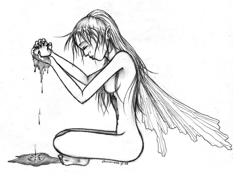 Elfe au coeur bris les dessins de manue humeur - Dessiner un elfe ...