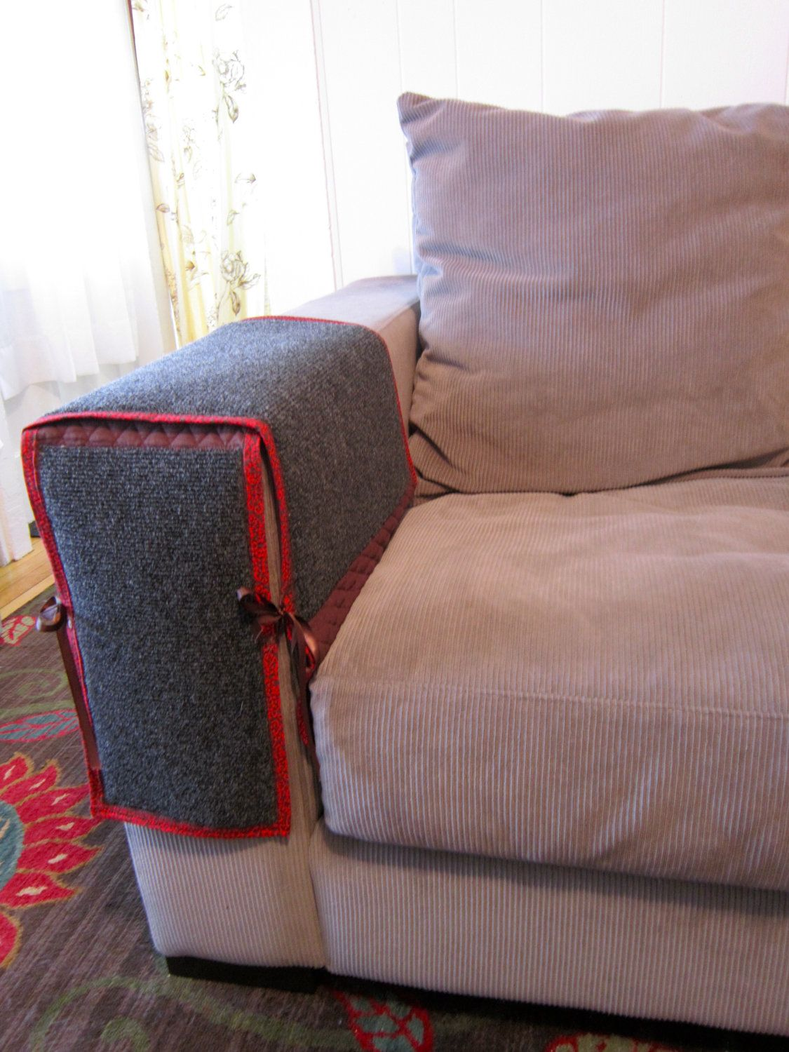 Sofa Sleeper Cat Scratching Couch or Chair Arm Protection via Etsy