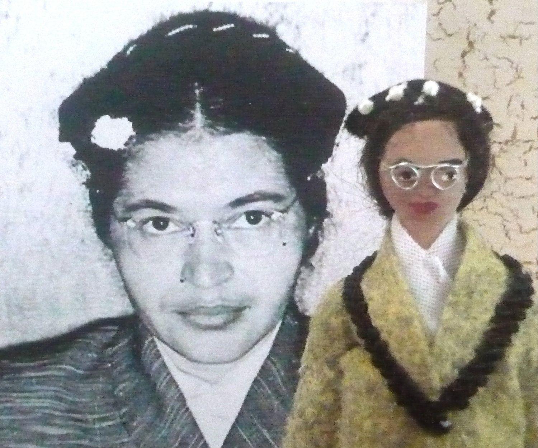 Rosa Parks Doll Miniature Historical Character 38 00 Via Etsy