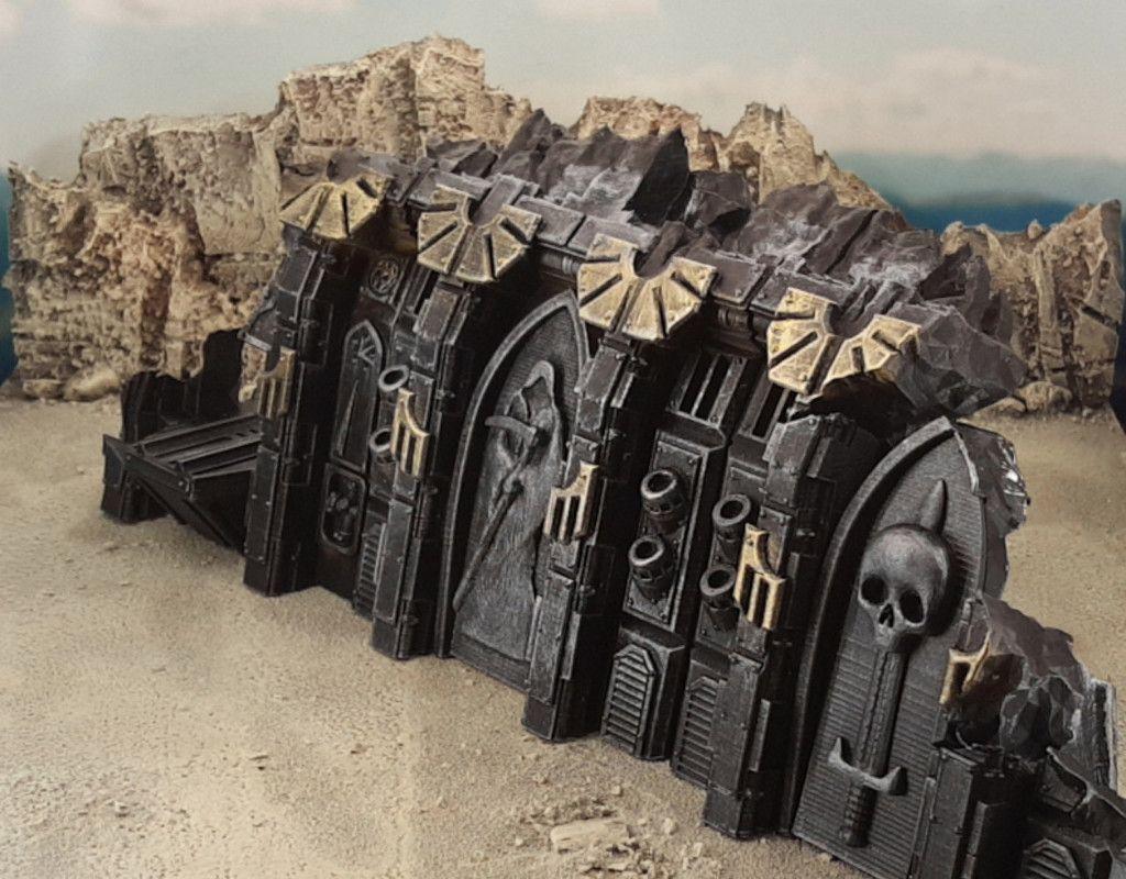 Gothic spaceship wreck A by Terrain4Print - Thingiverse