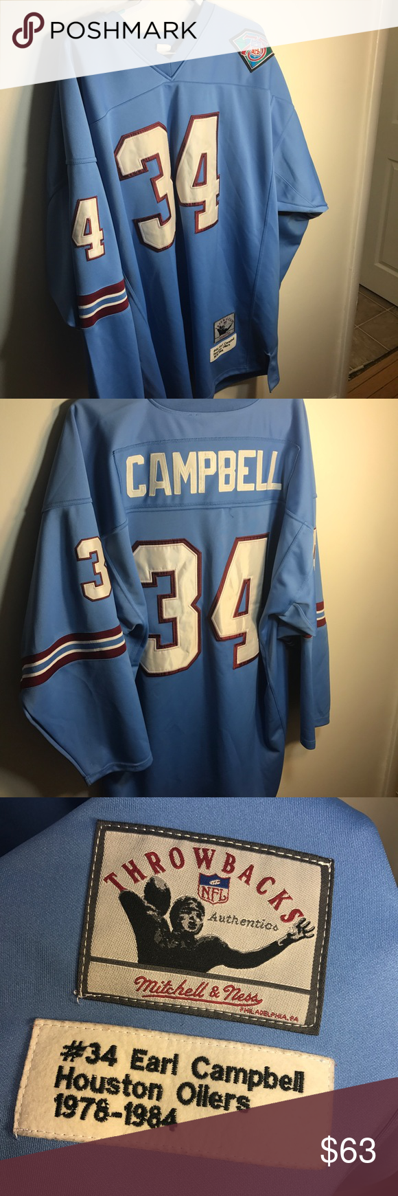 new concept c6650 9895e Earl Campbell Houston Oilers Jersey Size 2XL! Awesome shape ...