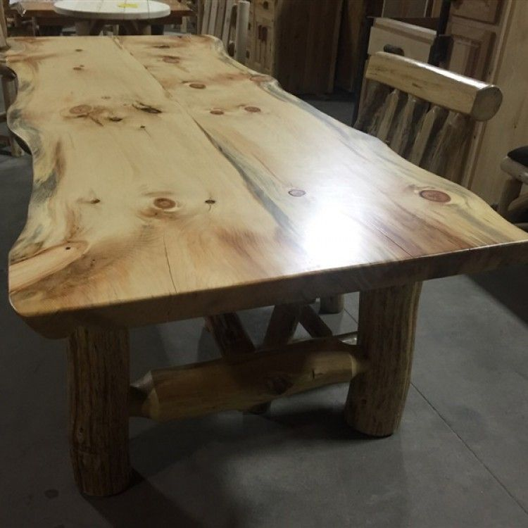 Pine Dining Table Rustic Pine Slab Dining Table Hover To Zoom