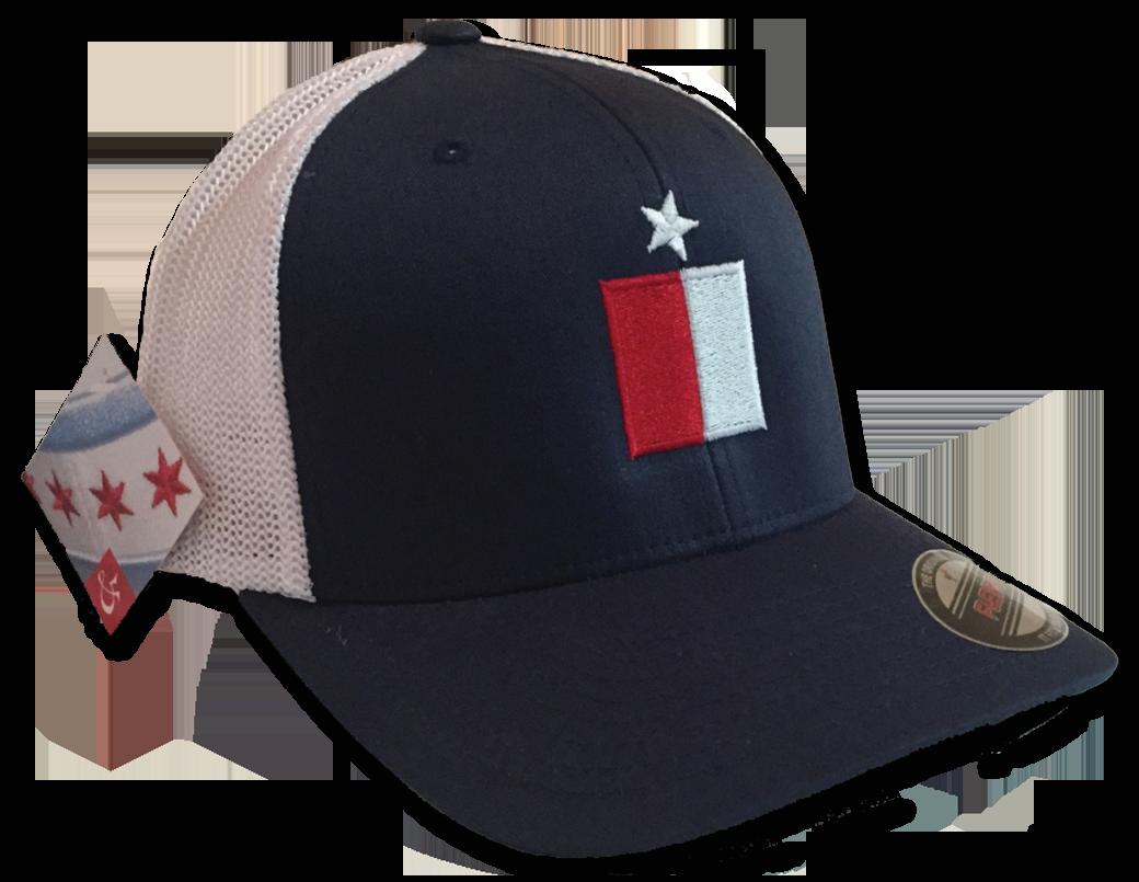 Texas Flag Mesh Flexfit Premium Yupoong Adult Retro Trucker