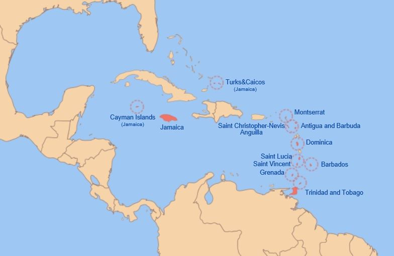 West indies federation map maps pinterest west indies west indies federation map gumiabroncs Choice Image
