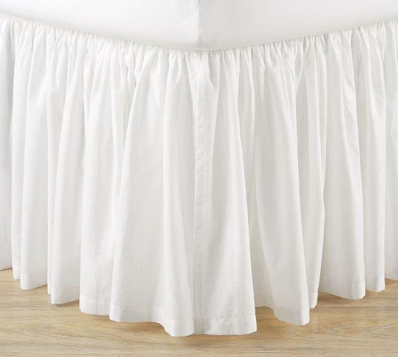 Voile Bed Skirt Full Classic Ivory Bedskirt Pottery Barn