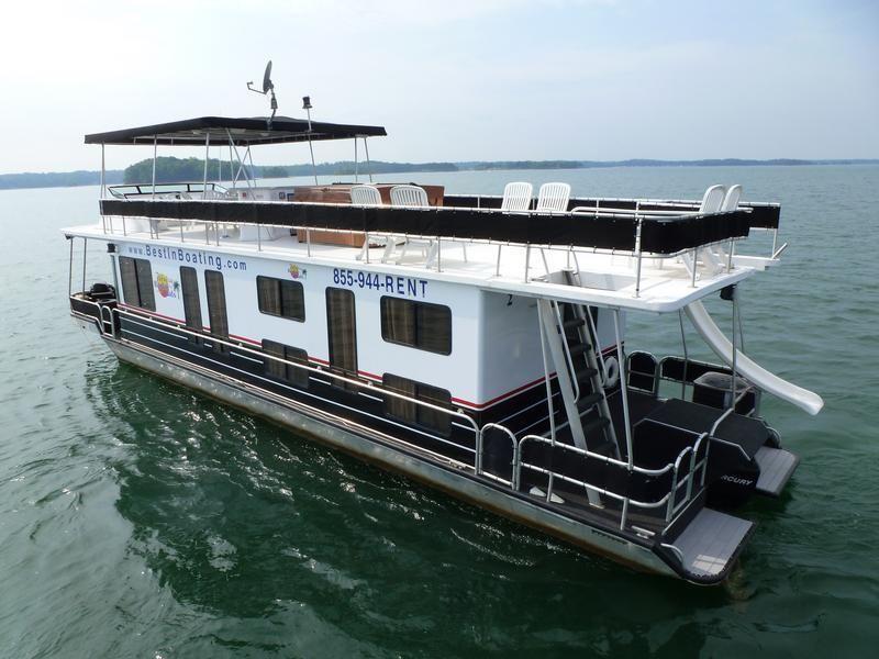 53 Foot Deluxe Houseboat House Boat Houseboat Rentals Atlanta Vacation