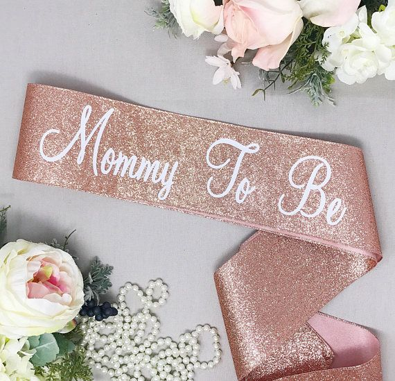 Mommy To Be Sash - Rose Gold Glitter Sash - Baby Shower Sash #21stbirthdaysash
