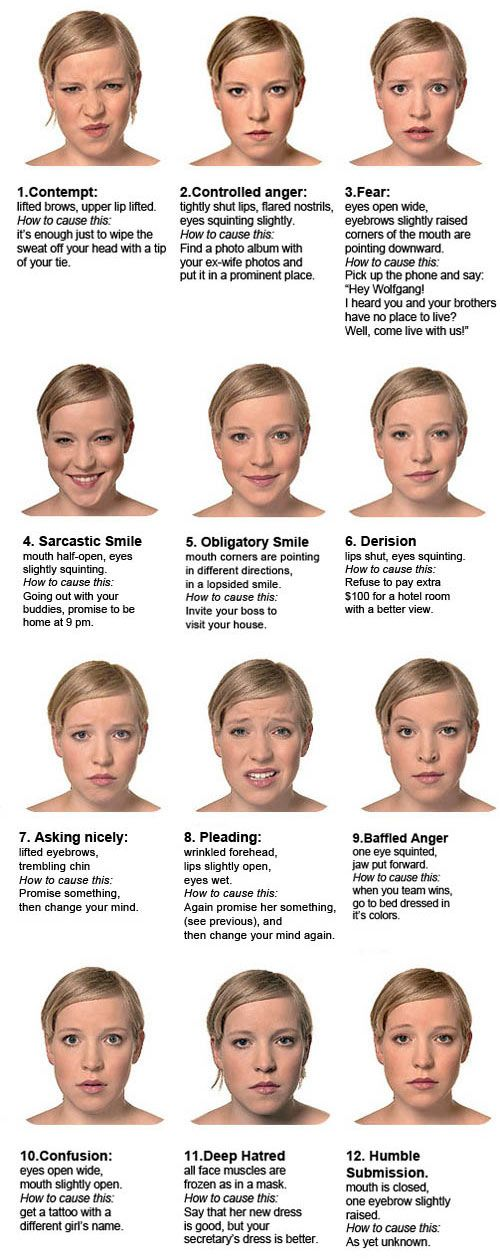 """Beyond the traditional 7 microexpressions - here are 12 that are on the spot - except for """"contempt"""", I think she's missing there a touch of a bigger smile."""