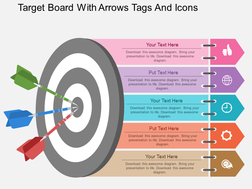 Targets Free Powerpoint Template Powerpoint Design Infographic Powerpoint School Powerpoint Templates