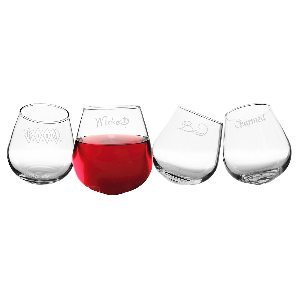 Halloween Tipsy Stemless Wine Glasses 4ct Tipsy Wine Glasses Wine Glass Stemless Wine Glasses