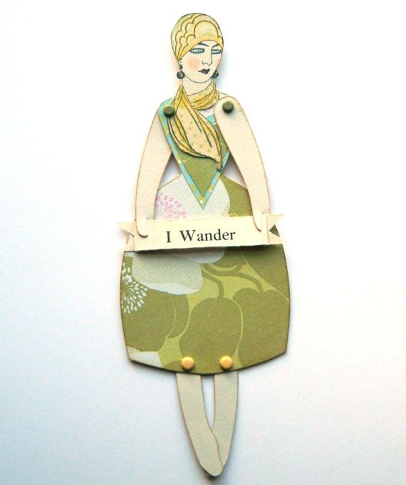Paper Doll Card Paper Puppet Handmade Paperdoll by JuliaPeculiar