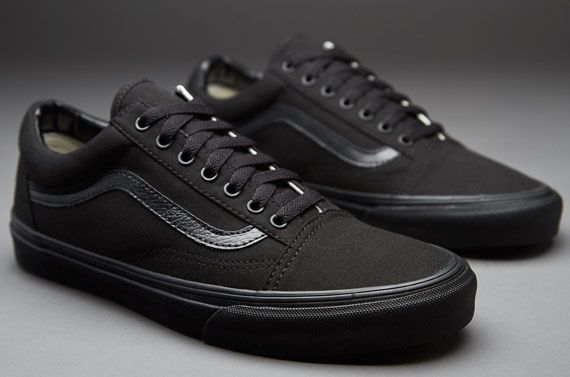 vans old school black ante