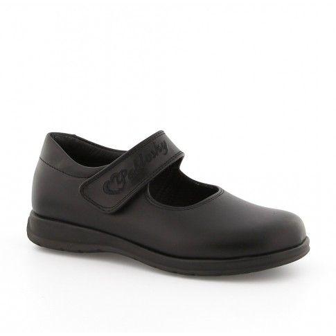 Pantofi negri, simpli, ideali pentru scoala.