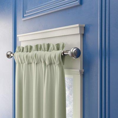 Alcott Hill Pepin Curtain Double Rod Size 28 48 Colour