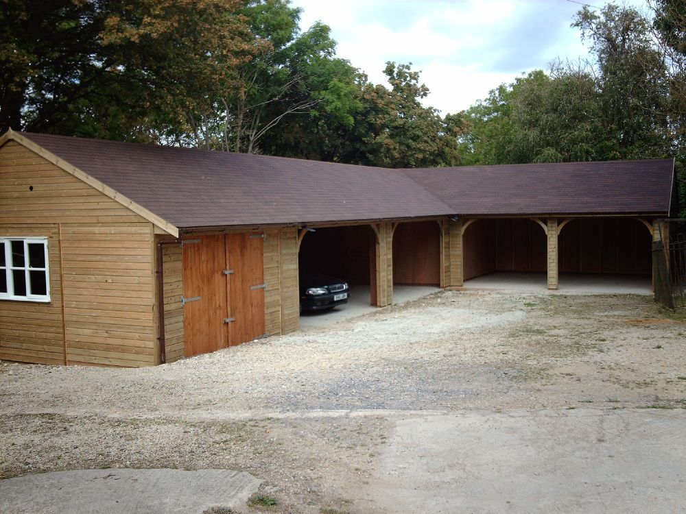 l shaped garage