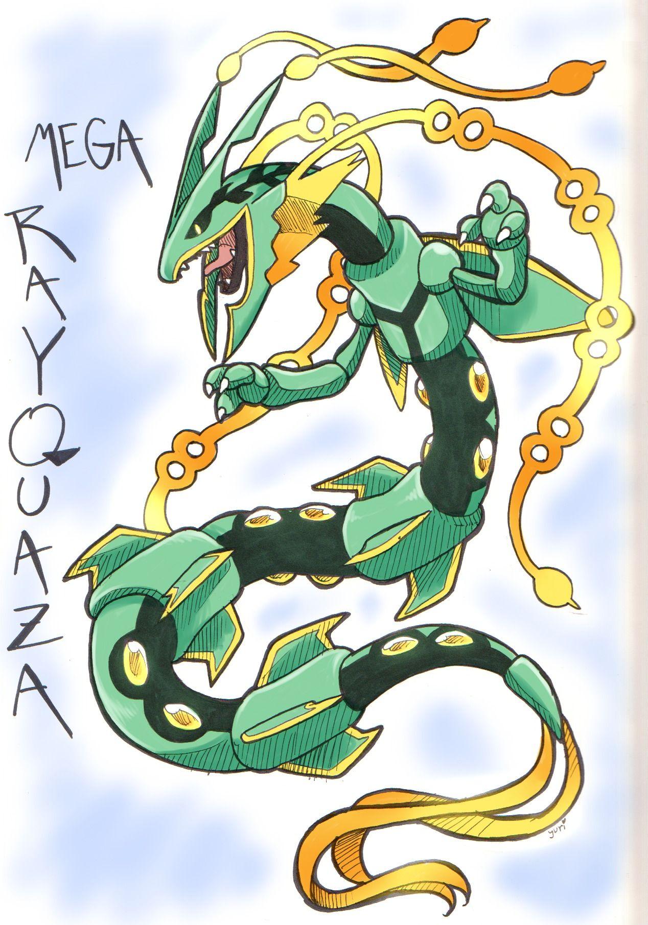 Pokemon - Mega Rayquaza | Monsters | Pinterest | Me gustas