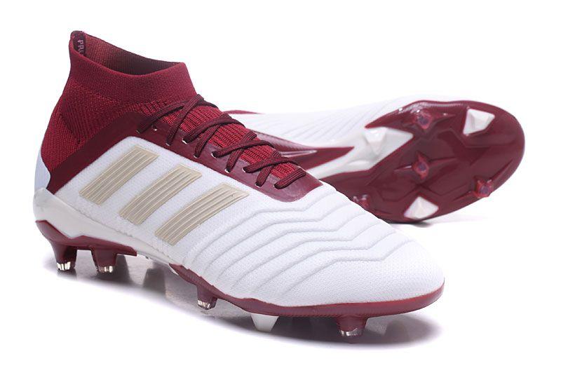 online store 490f8 59c0f adidas Predator 18.1 FG Zapatillas de Fútbol 2018 - Blanco Rojo