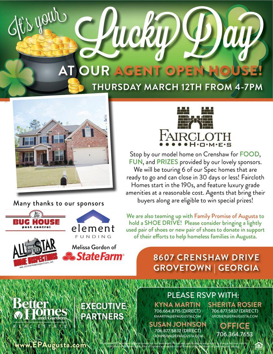 st patrick u0026 39 s day themed open house flyer