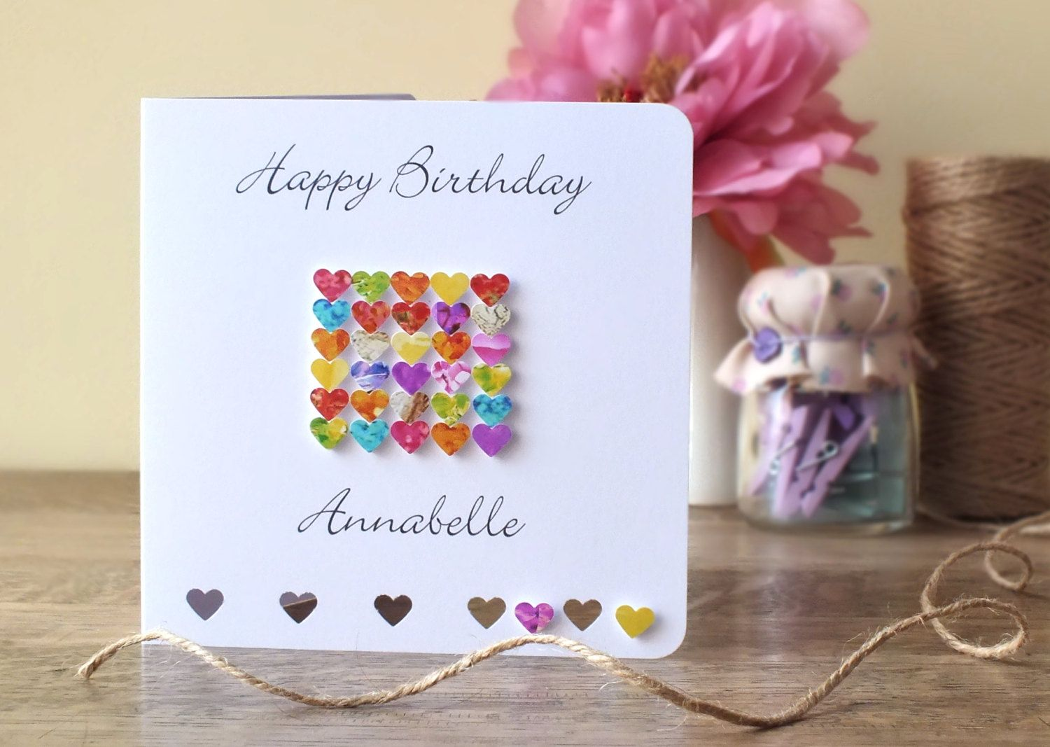 Handmade Personalised Birthday Card