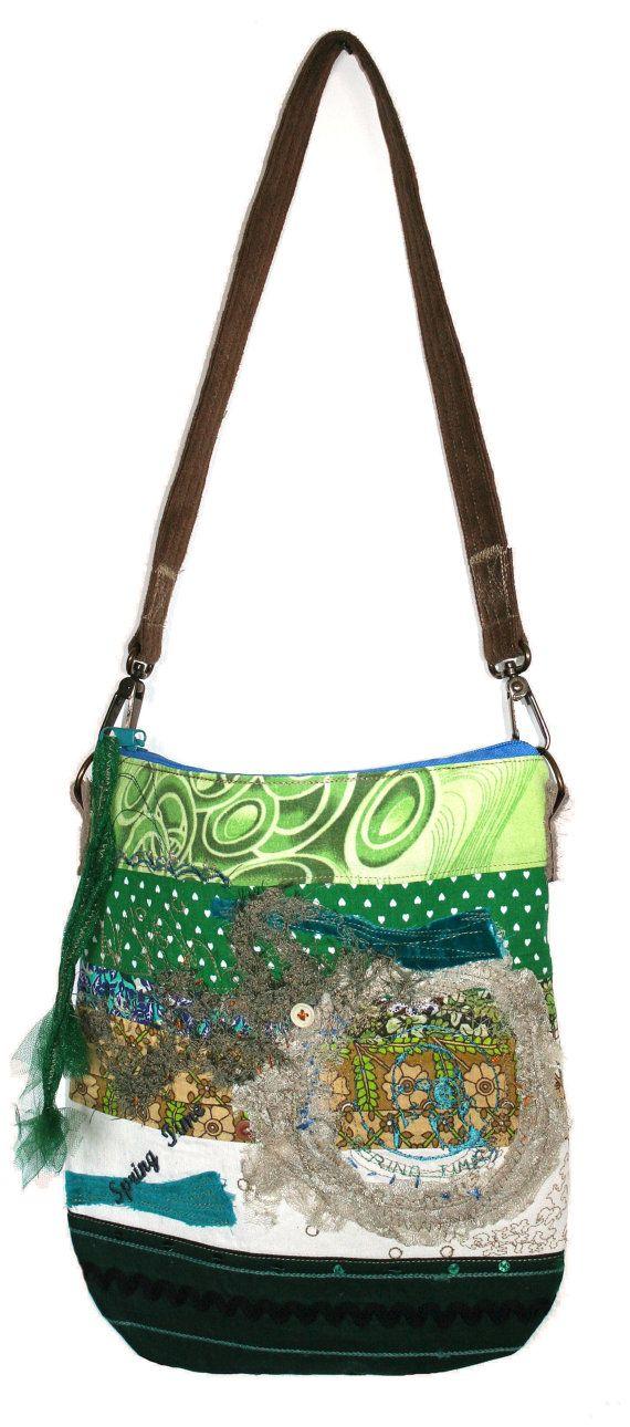 SPRINGILETA unique piece of art handbag shoulder by KristinaKecman, $135.00