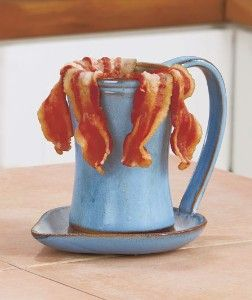 microwave bacon cooker thos works with a cup and saucer too just make sure they are microwave on kaboodle kitchen microwave id=92212