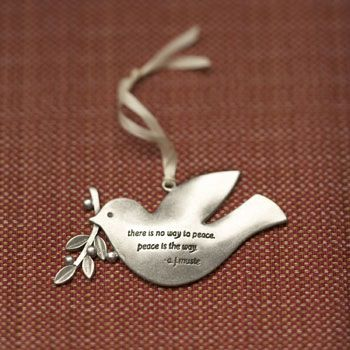 The peace dove is symbolic of the peace we seek between us and for us.