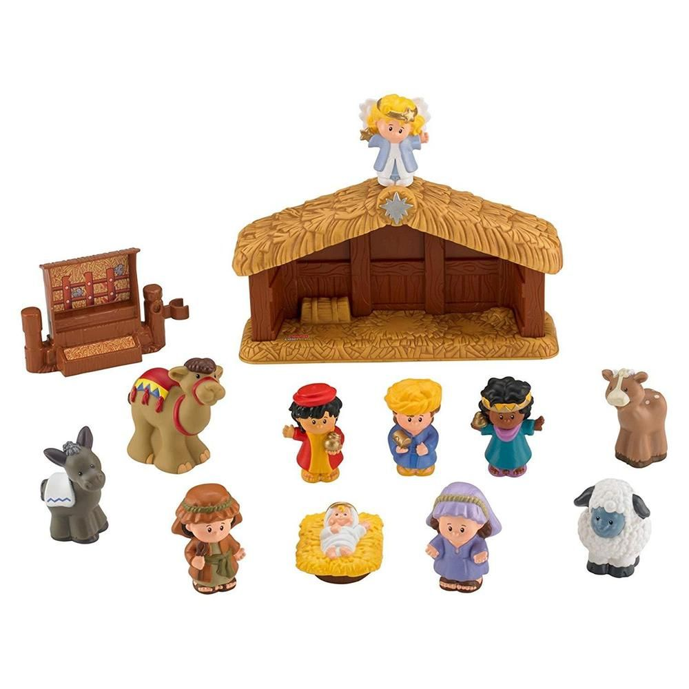 Fisher Price Manger Nativity Little People A Christmas Story Bible