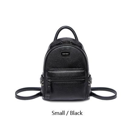 306148a0bf A1601 TOUTOU brand designer Mini rivet backpack pu leather backpack female  Small bags famale college schoolbag