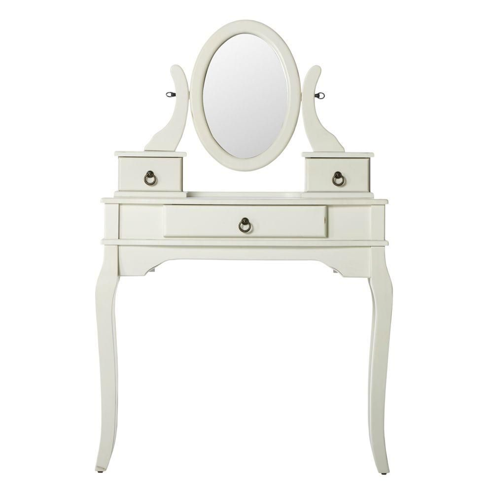 33 in. W Camilla\'s Antique White Bedroom Vanity | Products | White ...