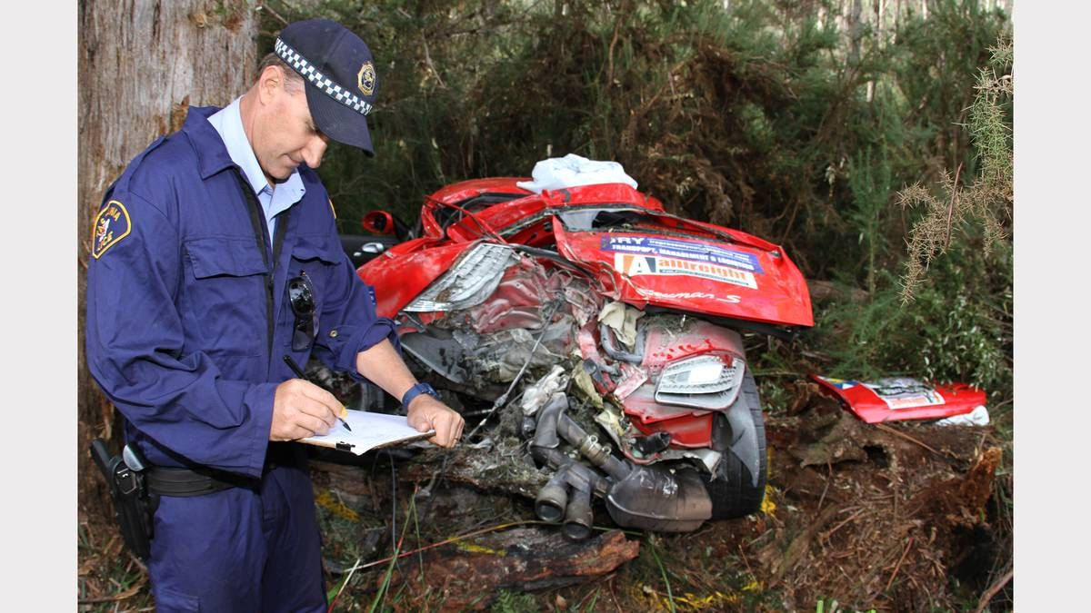 First class constable nigel housego takes notes at the