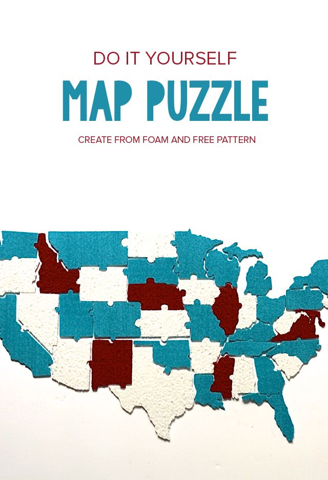 Diy us map puzzle activities gaming and create make your own game with this free puzzle pattern of the united states use foam gumiabroncs Images