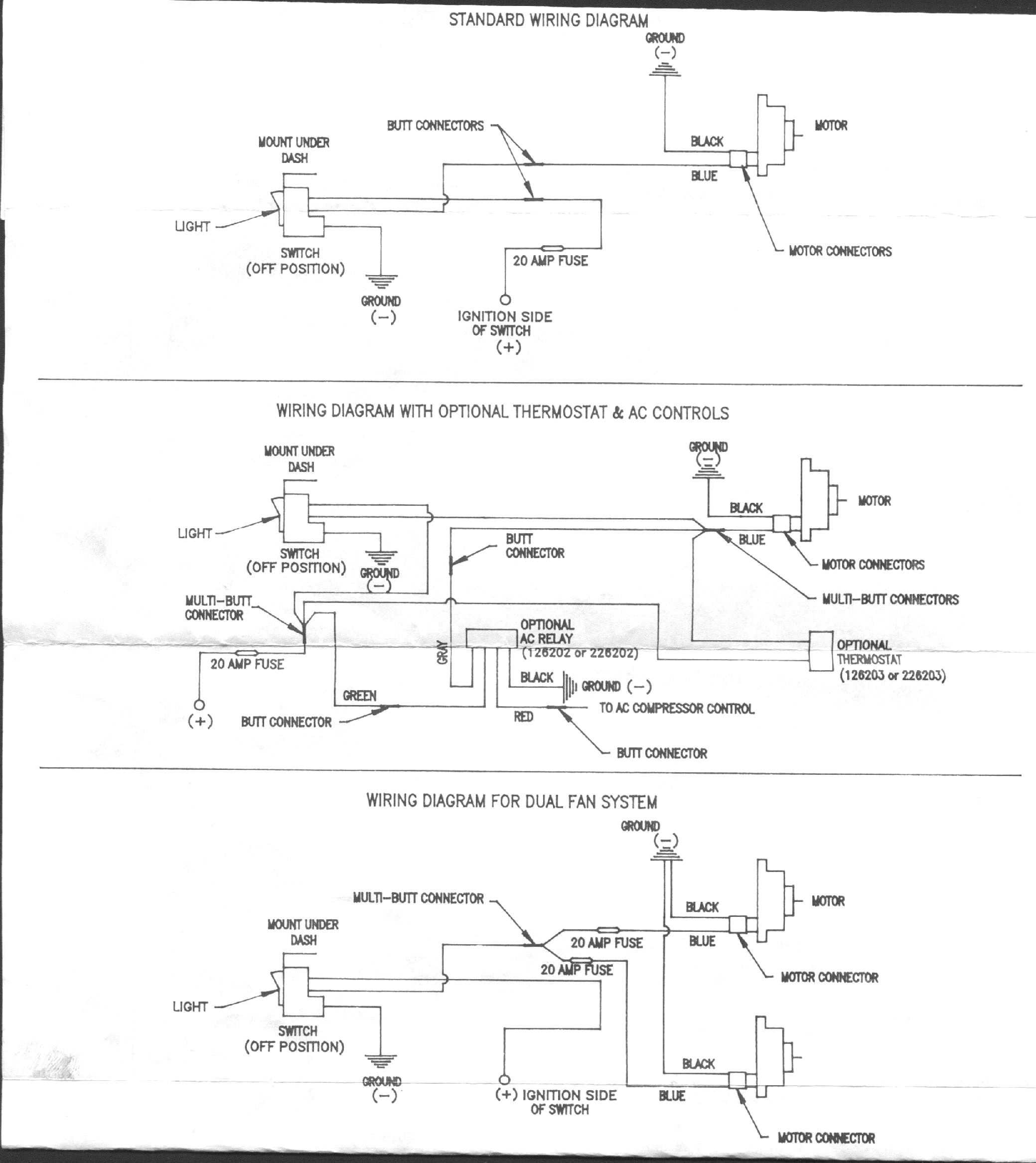 Unique Kenlowe Electric Fan Wiring Diagram  Diagram