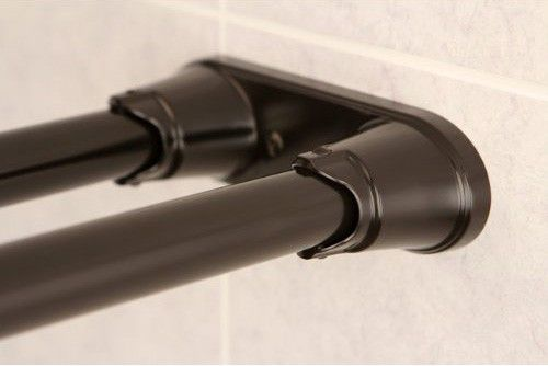 Bronze Shower Curtain Rod.Bennington Adjustable Double Curved Shower Curtain Rod Oil