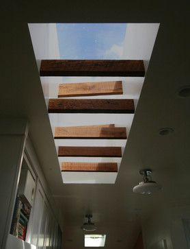 Exposed Wood Joists In The Skylight Well Provide A Nice Rythym To The Space Kitchen Exposed Wood Skylight Wood