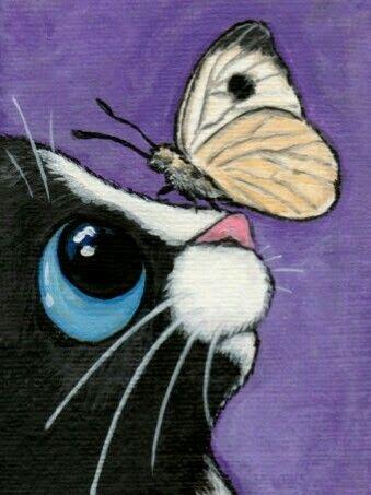 Gul Adli Kullanicinin Eu Amo Gato Panosundaki Pin Cizimler Tuval Resimleri Black Cat Sanat
