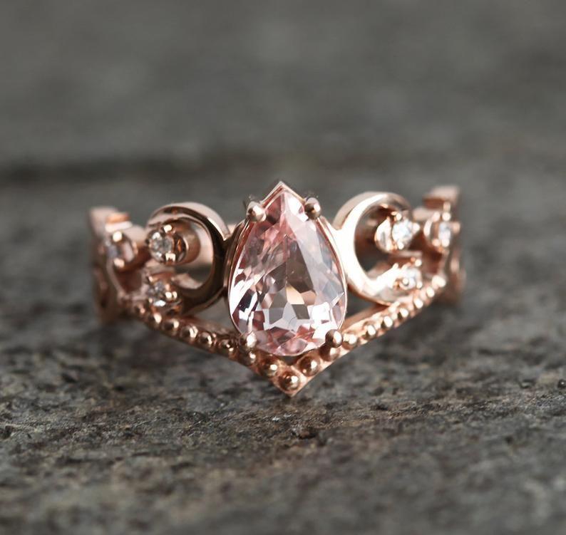 Pin On Morganite Wedding Rings