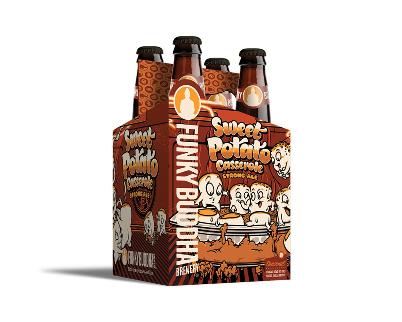 funky buddha brewery product illustration and package design by thefunky buddha brewery product illustration and package design by the brandit