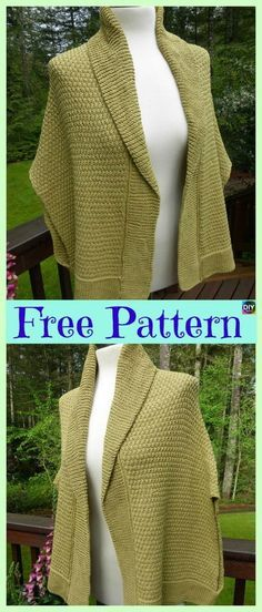 10 Beautiful Knit Blanket Sweater Free Patterns #blanketsweater