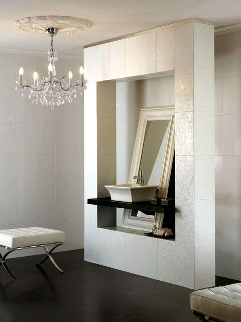 interesting arrangement | Best bathroom tiles, White wall ...