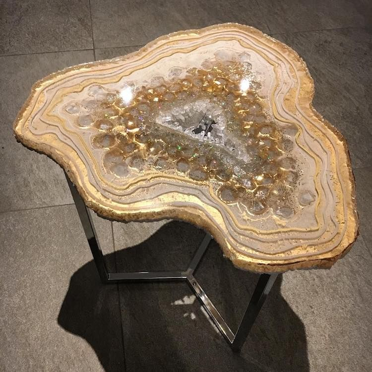 Mesmerizing Resin Tables Designed To Look Like Giant Glistening