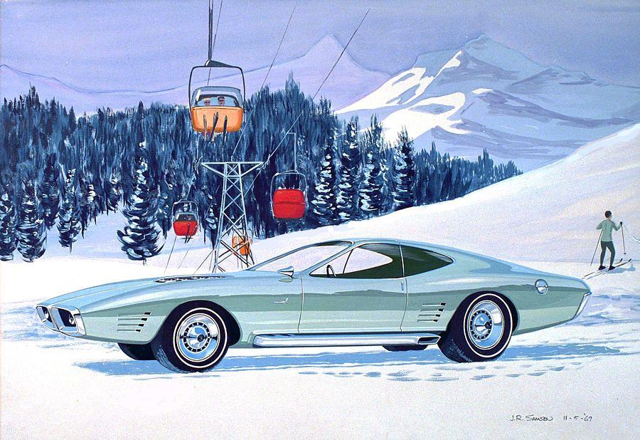 1972 Barracuda Cuda Plymouth Vintage Styling Design Concept Rendering Sk By John Samsen Concept Cars Vintage Concept Cars Concept Car Design