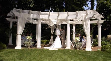 Kelton House Museum And Garden A Wedding Ceremony Beneath The Gazebo In Of