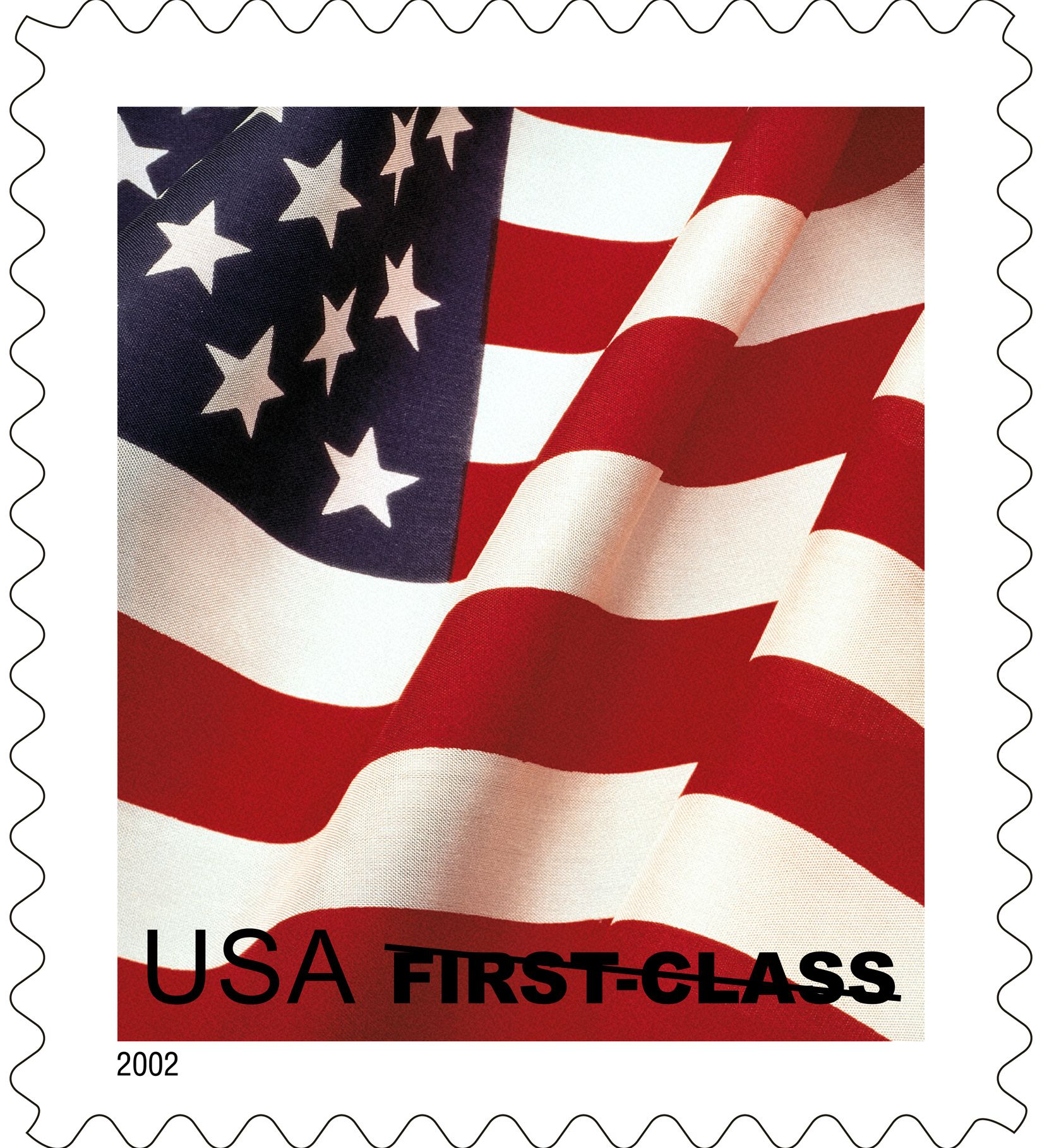 In 2002 usps issued the first flag stamp to feature just