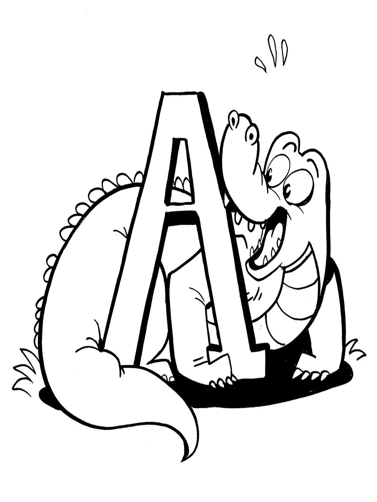 Friendly Alligator Kids Printable Coloring Activities