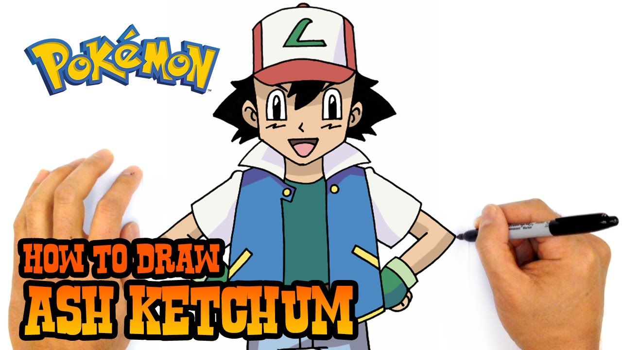 How To Draw Ash Ketchum Pokemon Youtube How To Draw Ash Ash Ketchum Ketchum